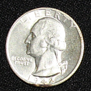 1942 S Uncirculated US Quarter -  90% Silver