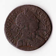 "1775 George III Half Penny - Contemporary ""Skeletal Drapery"" Forgery"