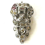 SALE Art Deco Small Rhinestone Dress Clip