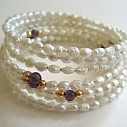 SALE Wired Baroque Seed Pearl Bracelets