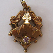 SALE Victorian Gold-Filled Amethyst Pendant