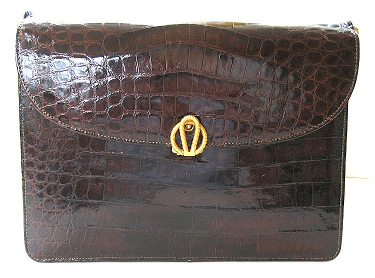 Bellestone Alligator Purse with Leather Interior