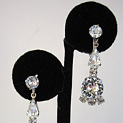 SALE Rhinestone Drop Earrings