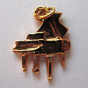 SALE Gold-Tone Piano Charm