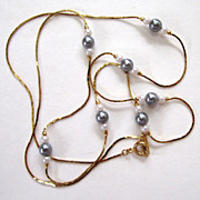 SALE Avon Faux Pearl Gold-Tone Necklace