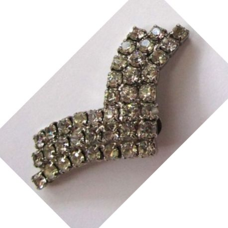 Winged Rhinestone Shoe Clips
