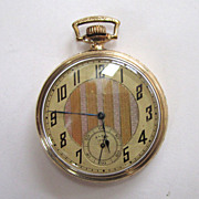 SALE Elgin 1000 Gold-Filled Pocket Watch with Illinois Case.