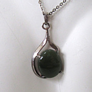 SALE Arahura New Zealand Jade Sterling Silver Pendant/Necklace