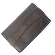 SALE Finnigans English Brown Leather Envelope-Style Clutch Purse