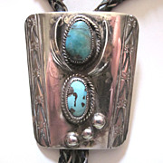 Bennett Silver Bolo with Turquoise