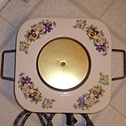Vintage Pansies Porcelain Hot Plate