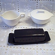 Watertown Lifetime Ware Creamer, Sugar Bowl and Butter Dish