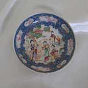 1790 Chinese Export Mandarin Saucer Dish