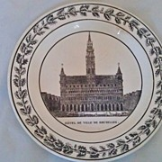 French Montereau Creamware Plate Impressed Mark