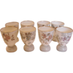 French Limoges Set of 8 Double Eggcups c 1870 -1890