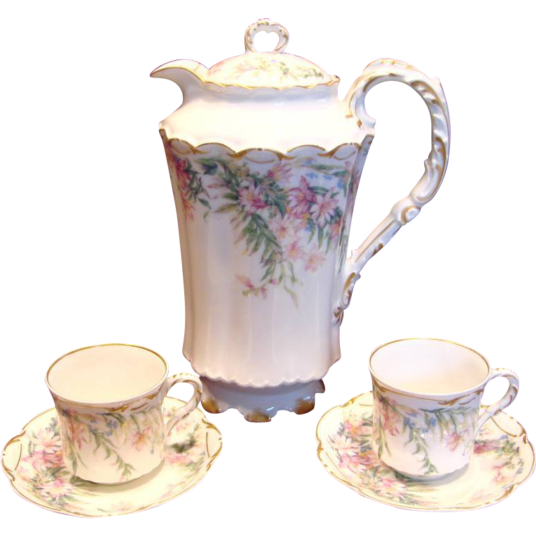 Limoges Chocolate Set Pot