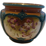 English Hadley�s Worcester Small Vase Hand Painted Violets c 1897 - 1900