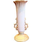 English Royal Worcester Flower Holder Vase c 1891