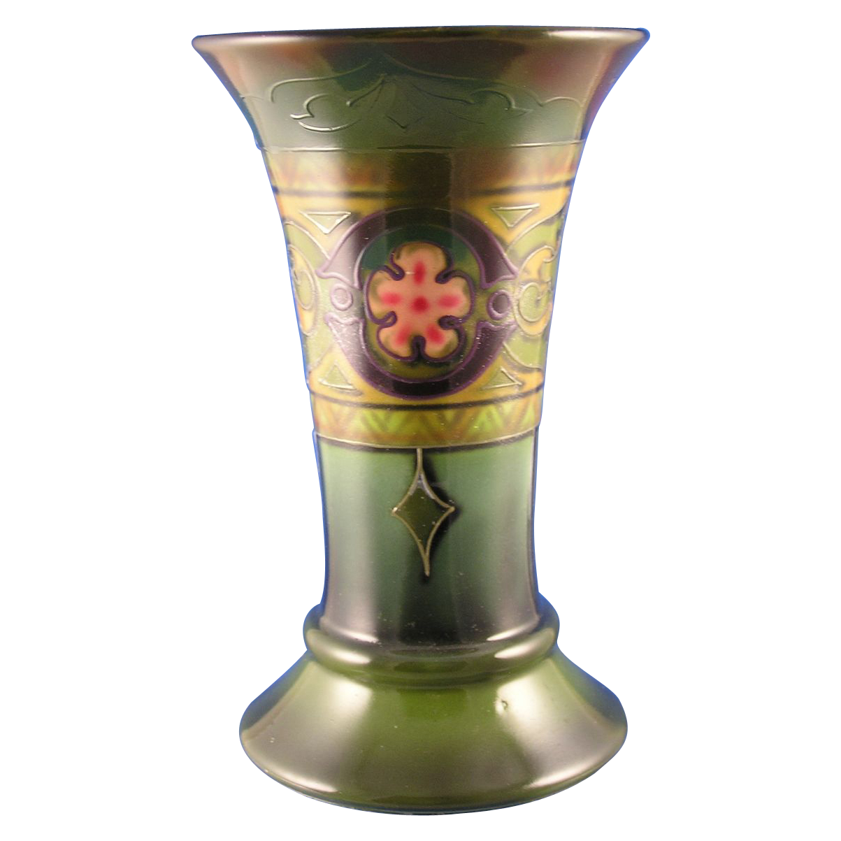 Royal Bonn Tube-Lined Arts & Crafts Trumpet Vase (c.1890-1923)
