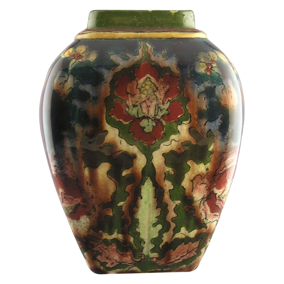 royal bonn germany old dutch floral motif vase. Black Bedroom Furniture Sets. Home Design Ideas