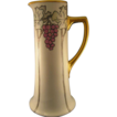 William Guerin (WG&Co)  Limoges Arts & Crafts Grape Motif  Pitcher (Signed/c.1900-1932)