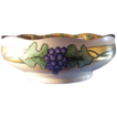 Hermann Ohme Silesia Grape Motif Bowl (Signed &quot;EB&quot;/Dated 1913)