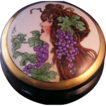 "Oscar & Edgar Gutherz (O&EG) Austria Art Nouveau Mucha Portrait Covered Dresser Jar (Signed ""C. Burrows""/c.1899-1918)"