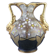 Amphora Austria Floral & Dolphin Handled Vase (c.1905-1910)