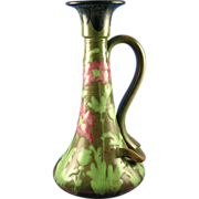 Amphora Austria RStK Arts & Crafts Poppy Motif Candlestick (c.1900-1904)