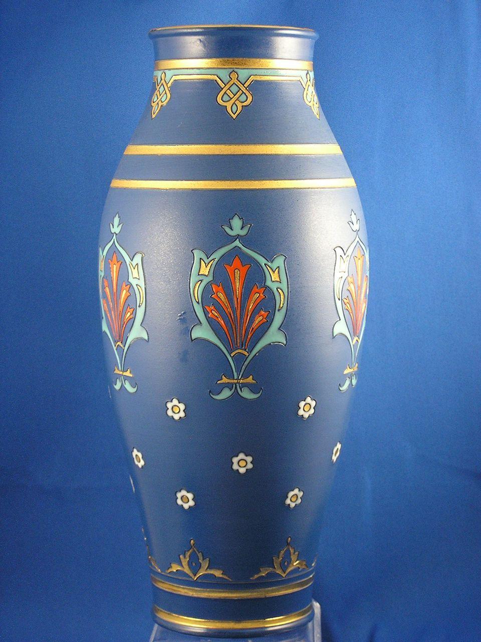 large villeroy boch mettlach germany arts crafts vase. Black Bedroom Furniture Sets. Home Design Ideas