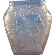 Consolidated Glass Purple Wash Bird Motif Vase (c.1920s)