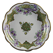 Limoges Mark 6 Pickard Studios Art Deco Floral & Geometric Pattern Bowl (c.1905-1910)