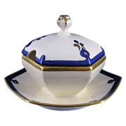Limoges Mark 6 Art Deco Condiment Dish (c.1891-1930)