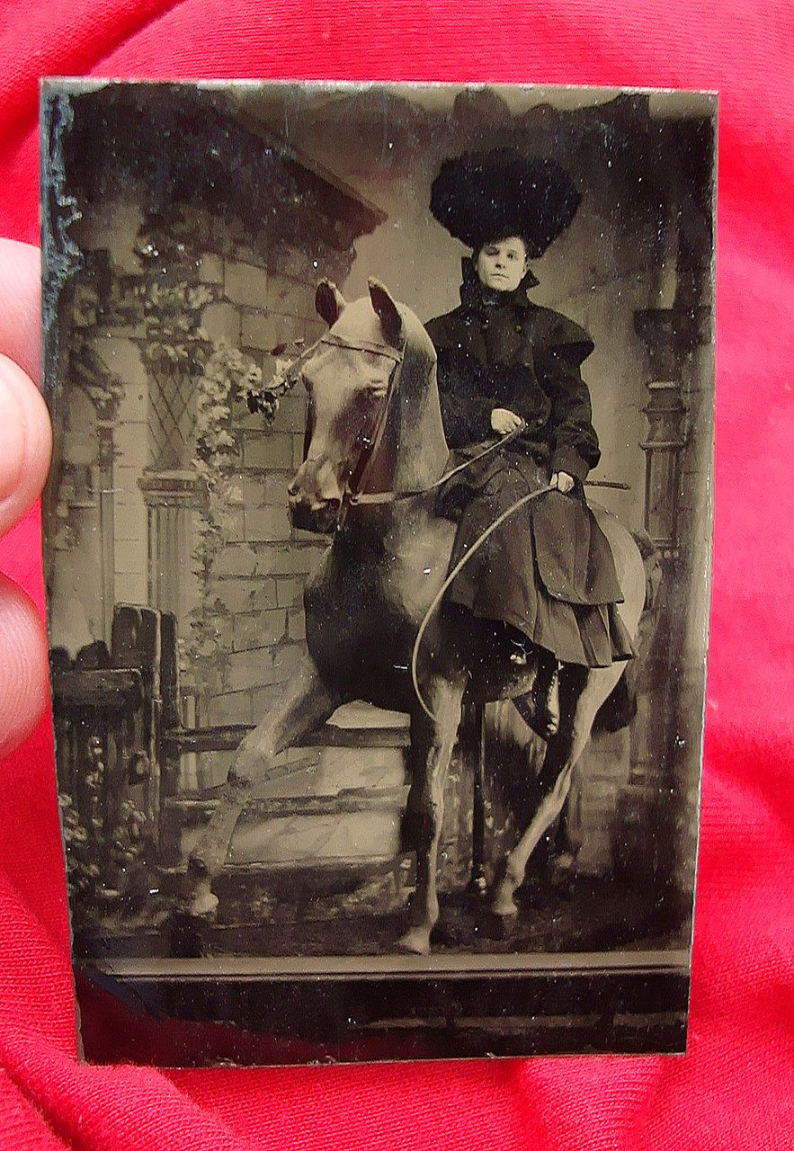 Tintype Photo Of Annie Oakley From Deadpeoplesthings On Ruby Lane