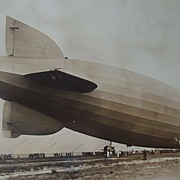 Graf Zeppelin Dirigible at Lakehurst,New Jersey