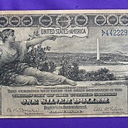 1896 Educational Note Silver Certificate X-Fine Estate Fresh
