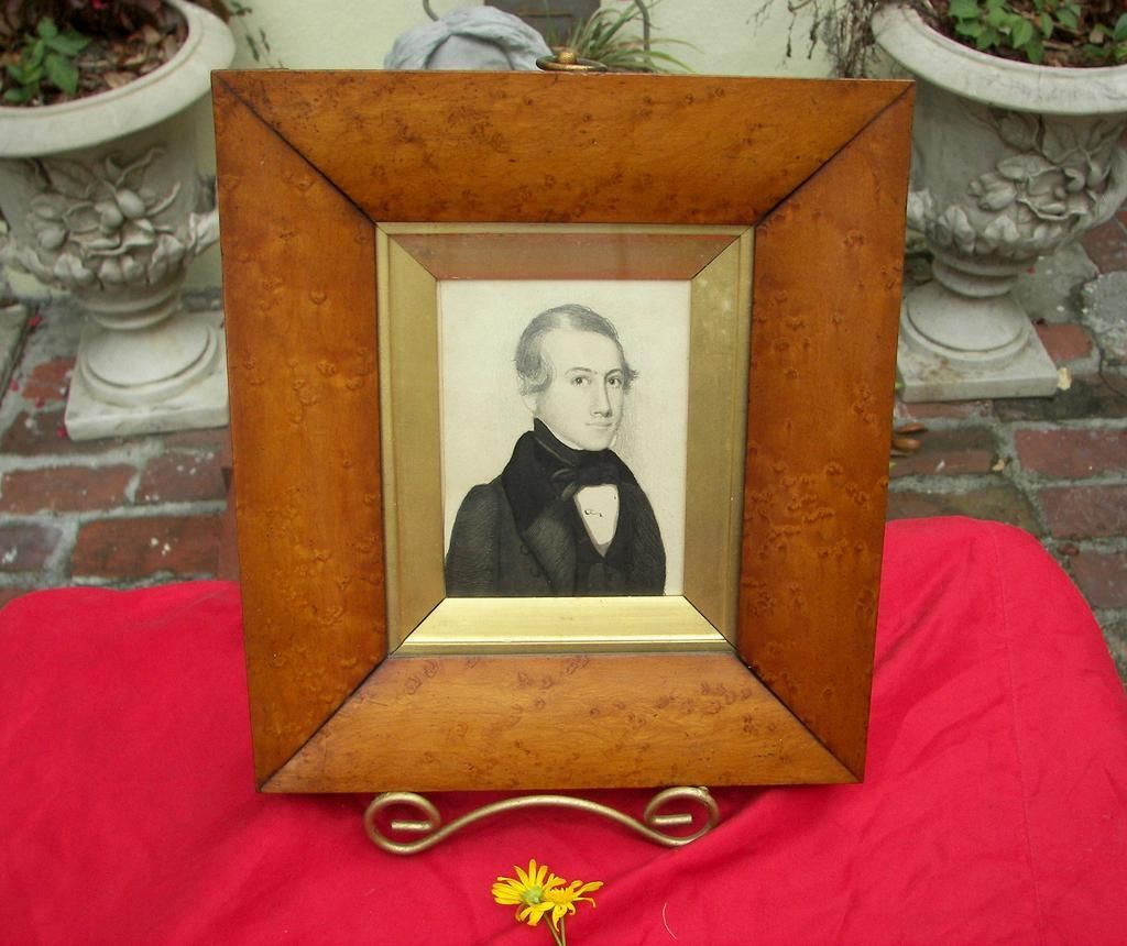 Mid-19th Century  Philadelphia Miniature Portrait Painting by Day Feicht