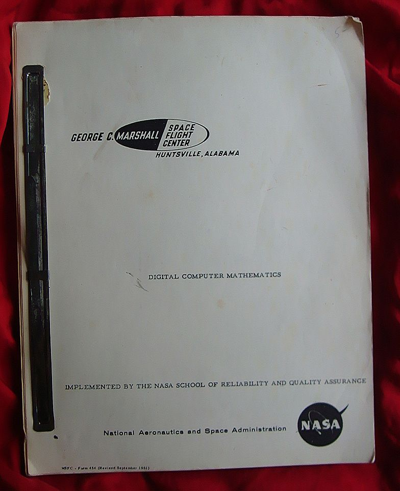 Early Nasa Space Digital Mathematics Computer Manual