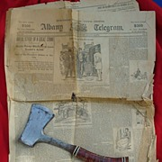Original Lizzie Borden Murder Newspaper Albany,N.Y. Telegram Aug.20th 1892