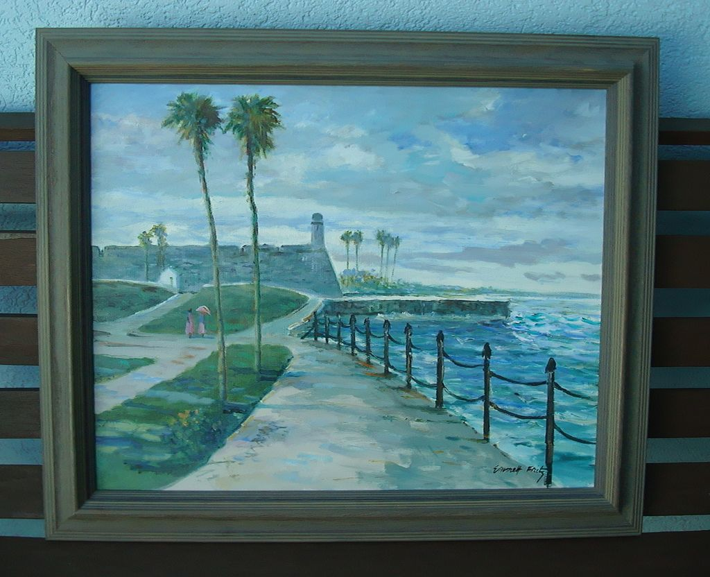 St. Augustine,Florida Painting Fort Castillo de Marcos Painting by Emmett Fritz