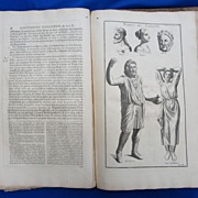 1719 Book  L'Antiquite Expliquee et Representee en Figures by Montfaucon