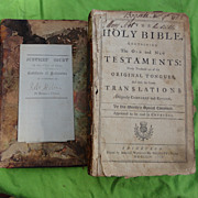 1754 Holmes Family Bible with Genealogical Records & More