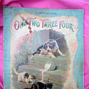 McLoughlin Bros. Chromolithograph Children's Book One Two Three Four