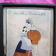 c.1830's Ammi Phillips Portrait of Alamene Hendrick and Daughter Martha New England