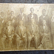 Early Daytona Beach,Florida Albumen Photo of Howard Thurman with other African-American Young 