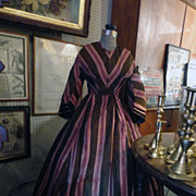 Stunning 1860's Civil War Black & Lavender Ladies Dress