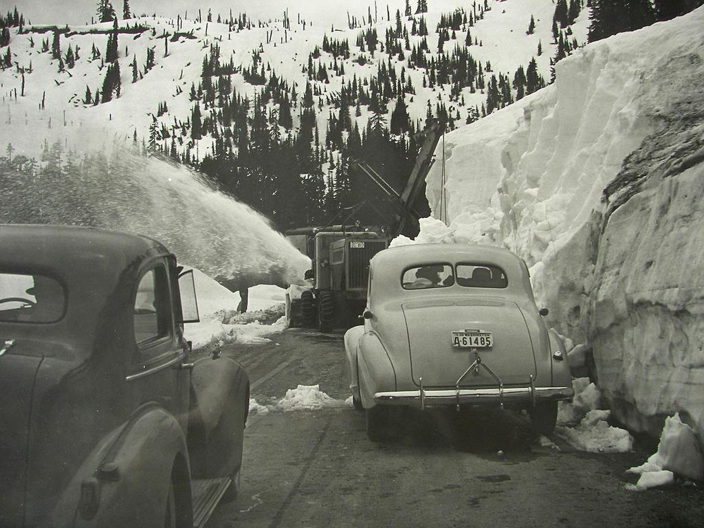 1938 Mount Saint Helens Snow, Cars & Avalanche