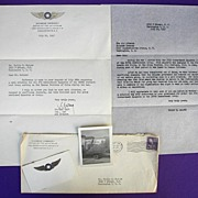 World War 2 Bomber Squadron Letter & Photo 373d Bombardment