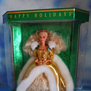 1994 Happy Holidays Barbie in Gold NRFB