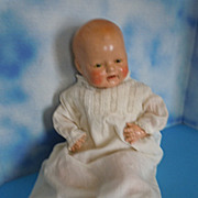 "1930's Horsman 20"" Composition Dimples Happy Baby w/ Tin Eyes"